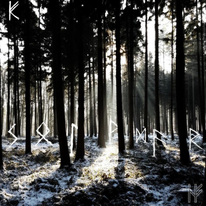 Winterwald mit Runen