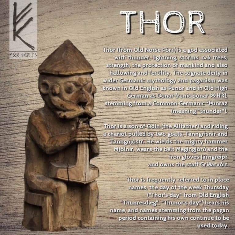 Thor mit Text