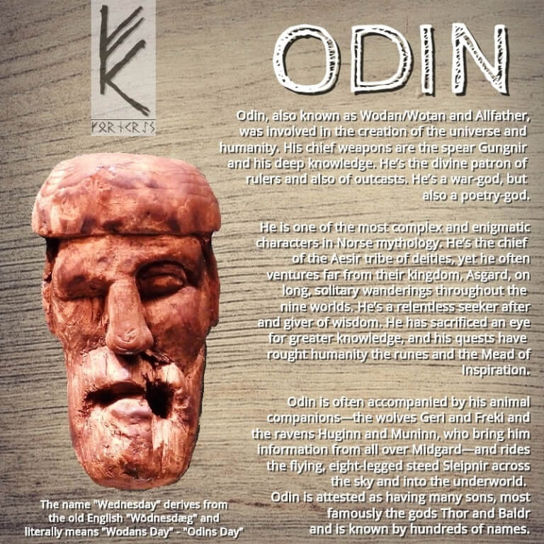 Odin-Maske mit Text