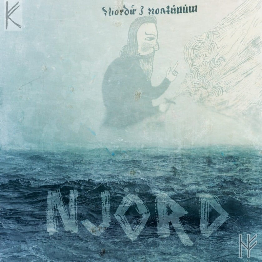 Bildmontage mit Meer und Njörd