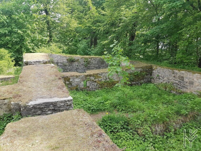 Mauerreste der Iburg-Ruine