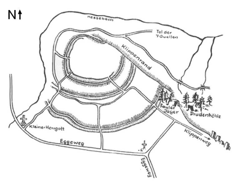 Kartenzeichnung Behmburg Karlsschanze