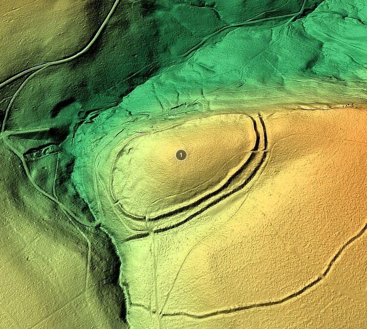LIDAR-Aufnahme Behmburg Karlsschanze