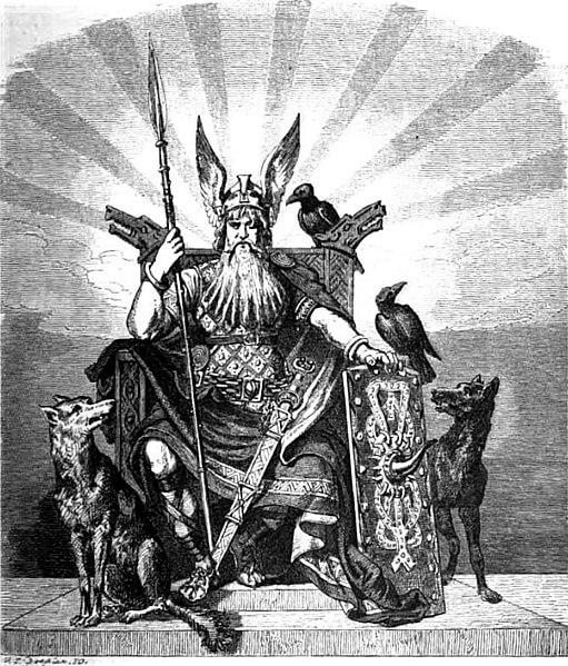 Odin, der Göttervater (Wägner, Wilhelm, 1882, gemeinfrei)