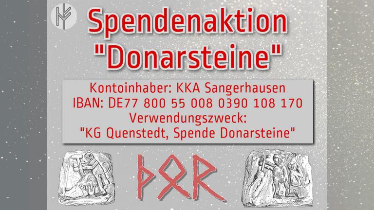 """Rettung der """"Donarsteine"""" von Quenstedt"""