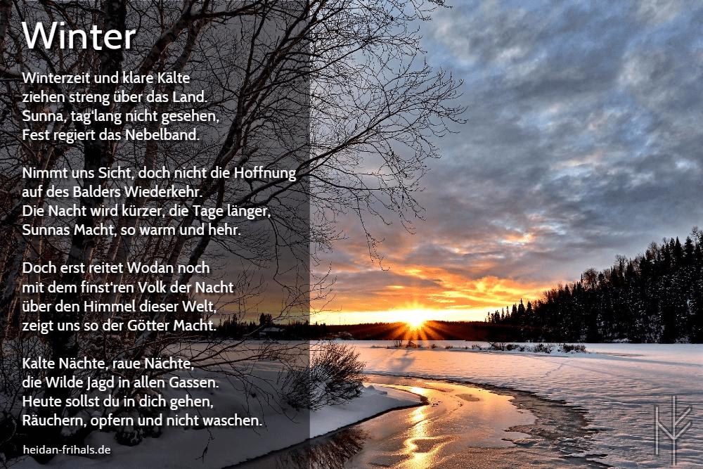 Gedicht Zur Wintersonnenwende ᛉ Heidan Frihals ᛉ